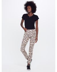 Mother Denim - High Waisted Looker Ankle Fray Touch Of The Tiger - Lyst