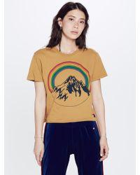 Aviator Nation - Mountain Rainbow Boyfriend Tee Yellow - Lyst