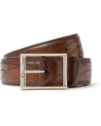 Berluti - 3.5cm Brown Scritto Leather Belt - Lyst