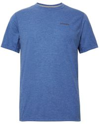 Patagonia - Nine Trails Slim-fit Mélange Jersey T-shirt - Lyst