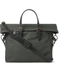 Bleu De Chauffe - Remix Leather-trimmed Regentex Ripstop Messenger Bag - Lyst