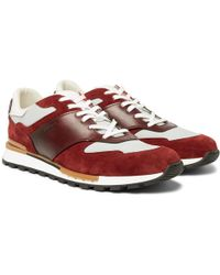 Berluti - Run Track Leather, Suede And Nylon Trainers - Lyst