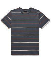 A.P.C. - Jimmy Striped Cotton-jersey T-shirt - Lyst