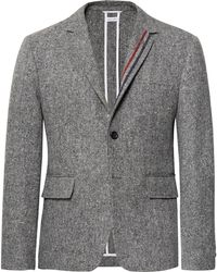 Thom Browne - Grey Unstructured Wool And Mohair-blend Blazer - Lyst