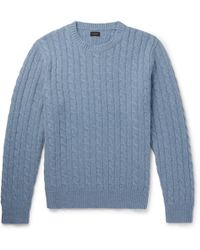 J.Crew - Cable-knit Wool Jumper - Lyst