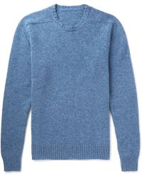 Anderson & Sheppard - Mélange Wool Sweater - Lyst