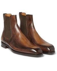 Berluti - Leather Chelsea Boots - Lyst