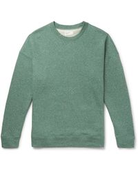 Universal Works - Oversized Mélange Loopback Cotton-blend Jersey Sweatshirt - Lyst