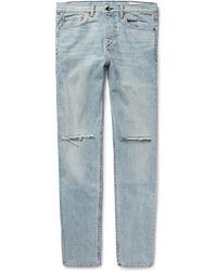 Rag & Bone - Fit 2 Slim-fit Distressed Stretch-denim Jeans - Lyst