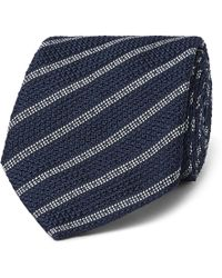 Canali - 8cm Striped Silk Tie - Lyst