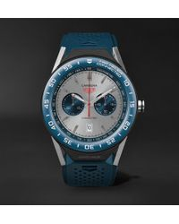 Tag Heuer - Connected Modular 45mm Titanium And Rubber Smart Watch - Lyst
