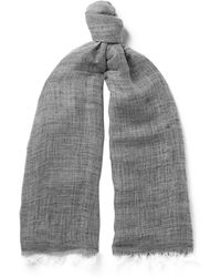 Oliver Spencer - Sinti Mélange Linen And Cotton-blend Scarf - Lyst