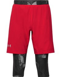 Under Armour - Launch Layered Heatgear Compression Shorts - Lyst
