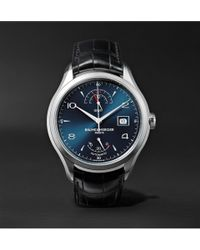 Baume & Mercier - Clifton Automatic 43mm Stainless Steel And Alligator Watch - Lyst