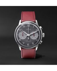 Junghans - Meister Driver Chronoscope 45mm Stainless Steel And Leather Watch - Lyst