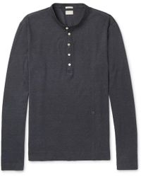 Massimo Alba - Cotton And Cashmere-blend Henley T-shirt - Lyst