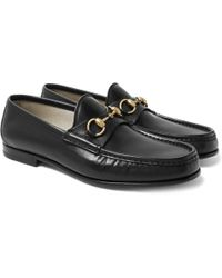 Gucci - Roos Horsebit Leather Loafers - Lyst