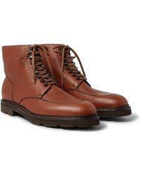 John Lobb - Helston Full-grain Leather Boots - Lyst