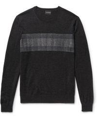 Club Monaco | Slim-fit Felt-panelled Merino Wool Jumper | Lyst