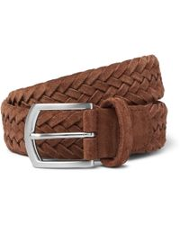 Andersons - 3.5cm Tan Woven Suede Belt - Lyst