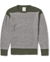 Visvim - Two-Tone Knitted-Wool Sweater - Lyst