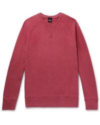 BOSS - Mélange Loopback Cotton-jersey Sweatshirt - Lyst