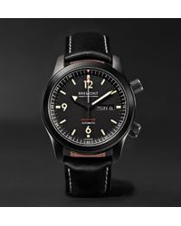 Bremont - U-2/dlc Automatic 43mm Stainless Steel And Leather Watch - Lyst