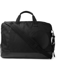 Dunhill - Radial Leather-trimmed Canvas Holdall - Lyst