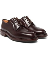 George Cleverley - Archie Cordovan Leather Derby Shoes - Lyst