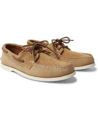 Quoddy - Downeast Suede Boat Shoes - Lyst