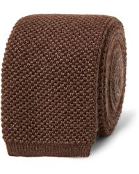 Berluti - 6cm Two-tone Knitted Silk And Cashmere-blend Tie - Lyst