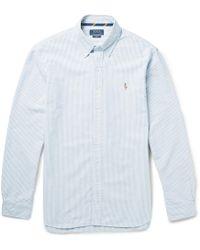 Polo Ralph Lauren - Slim-fit Striped Cotton Oxford Shirt - Lyst