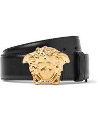 Versace - 4cm Black Leather Belt - Lyst