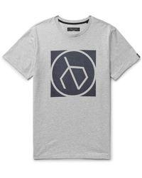 Rag & Bone - Printed Mélange Cotton-jersey T-shirt - Lyst