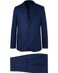 Mp Massimo Piombo - Navy Unstructured Linen Suit - Lyst