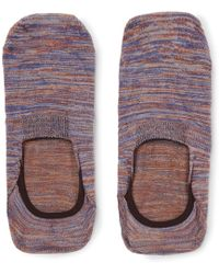 Pantherella - Saint Lucia Space-dyed Stretch Egyptian Cotton-blend No-show Socks - Lyst