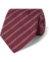 Giorgio Armani - 8cm Striped Silk-jacquard Tie - Lyst