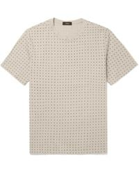 Theory - Claey Printed Cotton-jersey T-shirt - Lyst