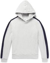 Fanmail - Striped Organic Cotton-fleece Hoodie - Lyst