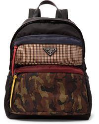 Prada - Printed Nylon Backpack - Lyst