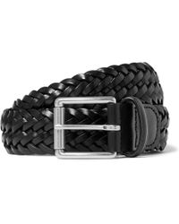 Andersons - 3.5cm Black Woven Leather Belt - Lyst