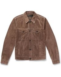 Tod's - Suede Jacket - Lyst