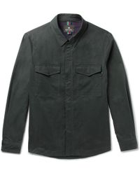 PS by Paul Smith - Brushed Stretch-cotton Twill Shirt Jacket - Lyst