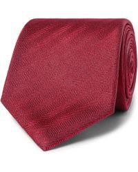 Brioni - 8cm Herringbone Silk Tie - Lyst