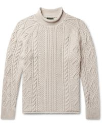 J.Crew - Cable-knit Cotton Rollneck Jumper - Lyst