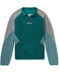 adidas Originals - Eqt Colour-block Fleece Half-zip Jacket - Lyst