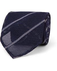 Thom Sweeney - 8cm Striped Silk Tie - Lyst
