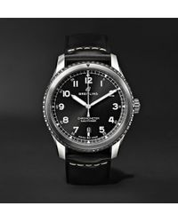Breitling - Navitimer 8 Automatic 41mm Steel And Leather Watch - Lyst