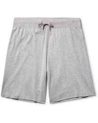 Handvaerk - Mélange Pima Cotton-jersey Pyjama Shorts - Lyst