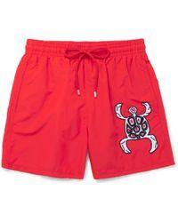 Vilebrequin - Motu Slim-fit Mid-length Appliquéd Swim Shorts - Lyst